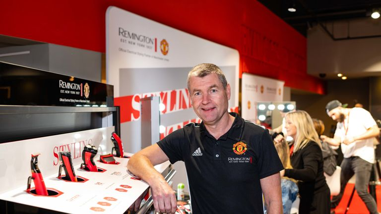 Denis Irwin at the Remington MUFC collection launch