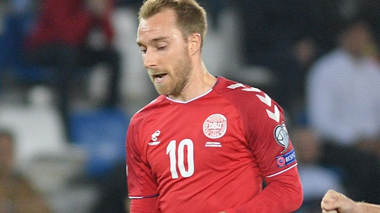 Denmark v Georgia in Euro 2020 Qualifiers.
