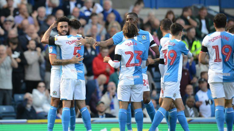 Blackburn Rovers' Derrick Williams celebrates scoring the opening goal