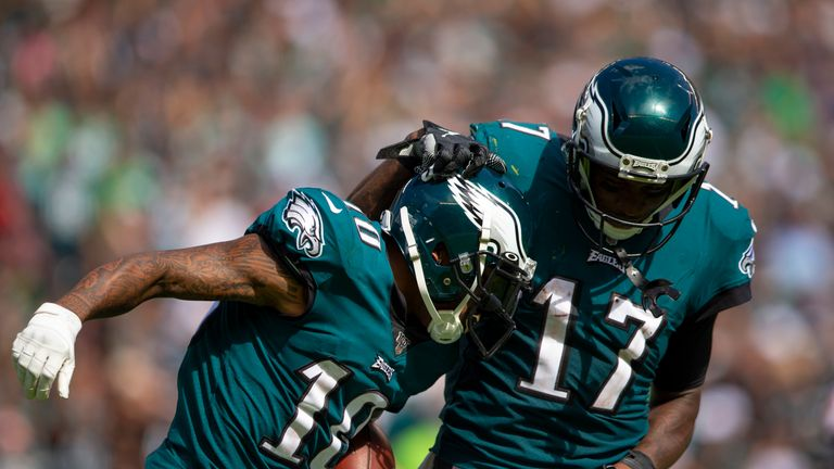 DeSean Jackson and Alshon Jeffery both scored in Philadelphia' Week One win, but sat out Week Two and Three losses