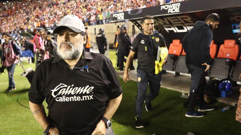 Diego Maradona only joined Gimnasia y Esgrima in September