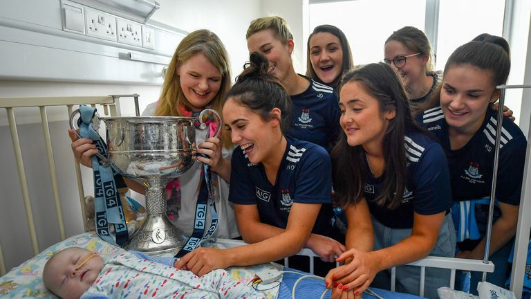 The squad visited the children's hospital in Crumlin on Monday