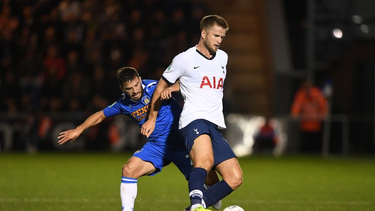 Eric Dier returned to first-team action for Tottenham on Tuesday