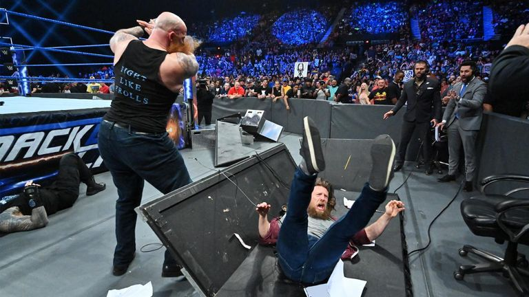 Daniel Bryan was put through a table by Erick Rowan's wrath on this week's SmackDown