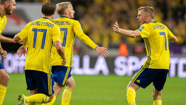 Highlights of the European qualifier Group F clash between Sweden and Norway.