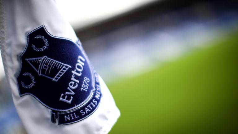 General view of Everton corner flag at Goodison Park