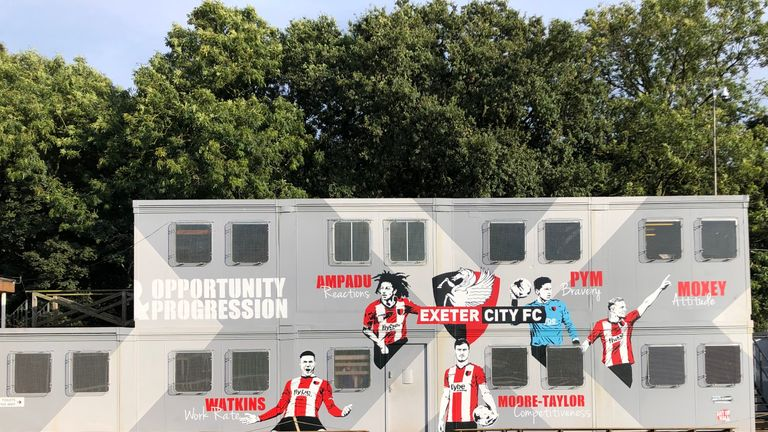 Exeter City's academy building showcases the qualities of their former players