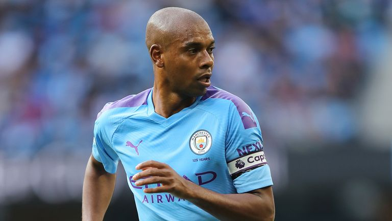 Fernandinho has kept two clean sheets in central defence alongside Nicolas Otamendi
