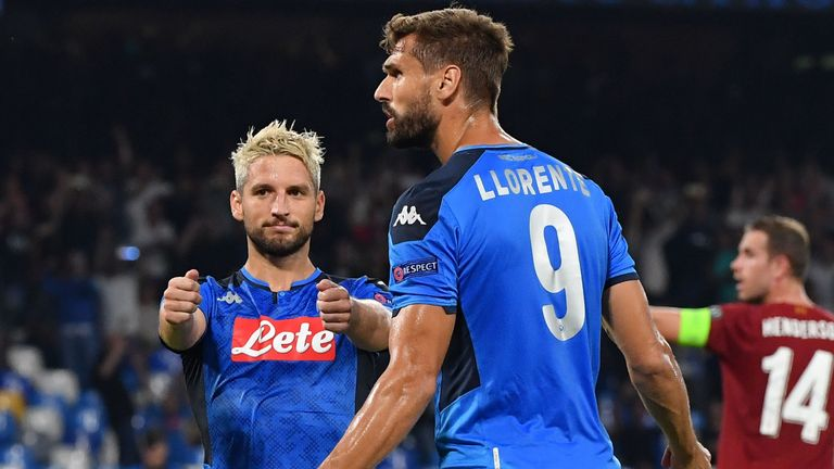 Goals by Dries Mertens and Fernando Llorente condemned Liverpool to defeat