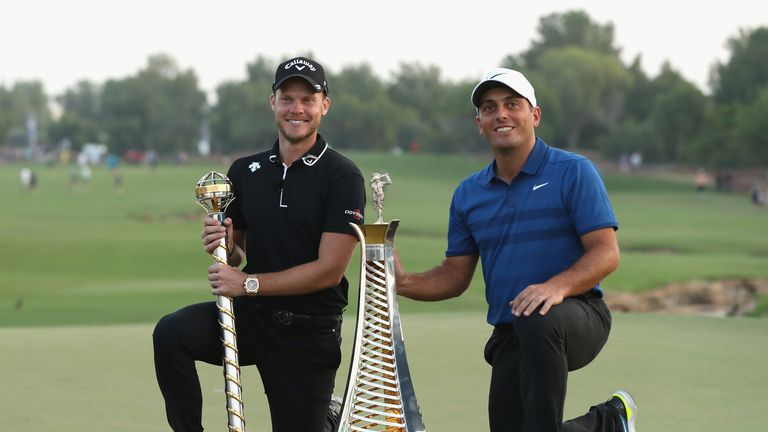 during the final round of the DP World Tour at Jumeirah Golf Estates on November 18, 2018 in Dubai, United Arab Emirates.