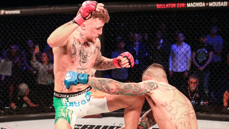 James Gallagher submitted Roman Salazar with a guillotine in round one