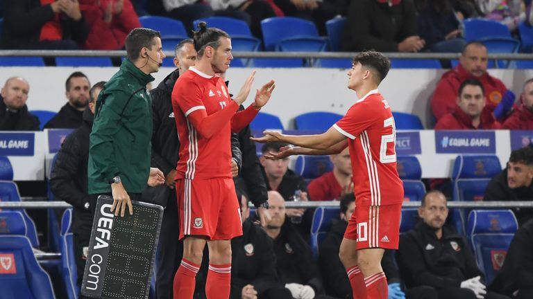 Gareth Bale replaced James early in the second-half