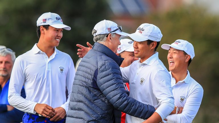Andy Ogletree and team U.S. beat Great Britain & Ireland in Walker Cup