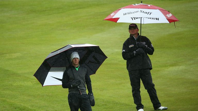 McIlroy struggled at a wet Wentworth in 2013