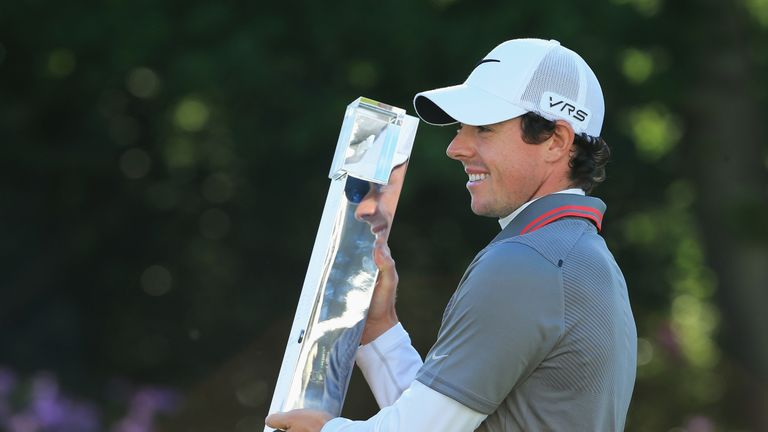 Rory McIlroy beat Shane Lowry by one shot to lift the trophy