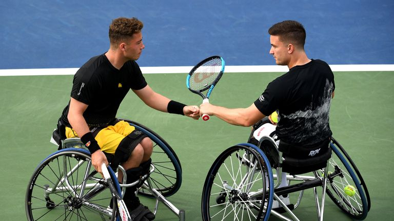 Gordon Reid and Alfie Hewett made it through to the men's doubles final once again