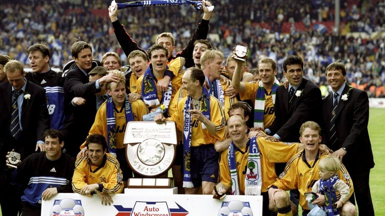 Jones was an unused sub in Wigan's 1999 Auto Windscreens Shield victory over Millwall at Wembley - with Neil Harris on the losing side