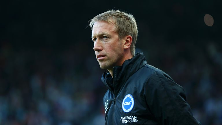 Brighton manager Graham Potter during their 0-0 draw with Newcastle