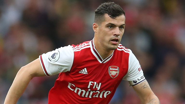 Granit Xhaka was jeered by the Arsenal supporters during the win over Aston Villa