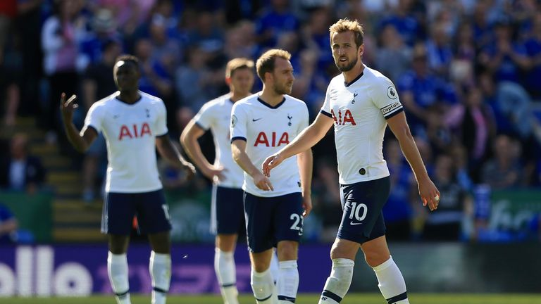 Spurs were sunk 2-1 at Leicester on Saturday