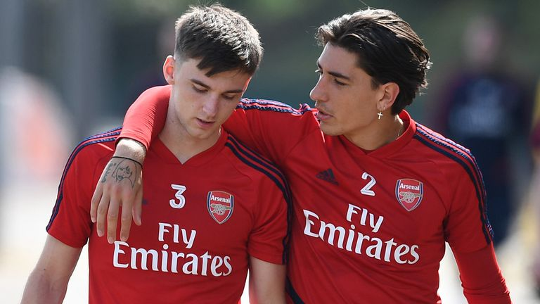 Hector Bellerin and Kieran Tierney