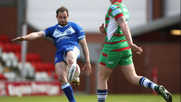 Ian Watson in action for Swinton during his time as player-coach