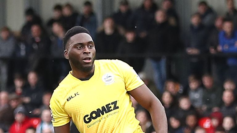 Dover striker Inih Effiong was the victim of alleged racist abuse after scoring a penalty