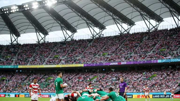 The turning point in the Test came at an Ireland scrum deep in Japan territory late in the first half