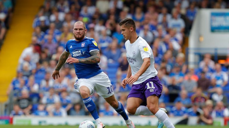 James Norwood (L) faces his former club Tranmere