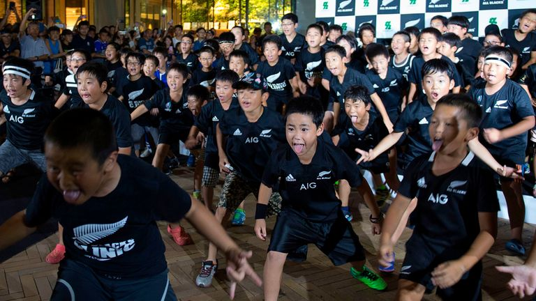 Japanese children do the Haka - why not try out some of Japan's traditions while there for the World Cup