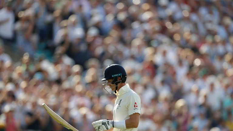 Joe Denly walked off to a standing ovation after scoring 94