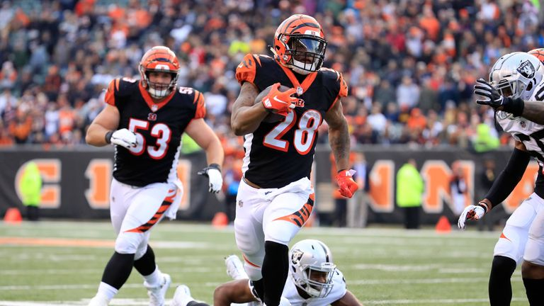 The Bengals are relying heavily on Joe Mixon this season