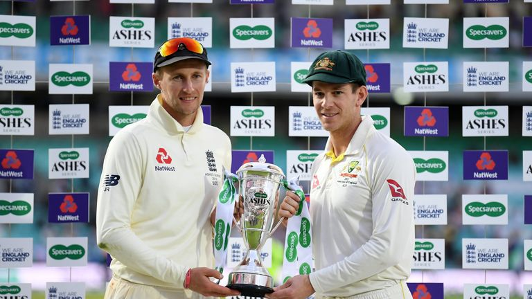 Joe Root and Tim Paine share the Ashes series