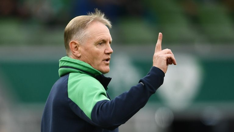 7 September 2019; Ireland head coach Joe Schmidt ahead of the Guinness Summer Series match between Ireland and Wales at the Aviva Stadium in Dublin. Photo by Ramsey Cardy/Sportsfile