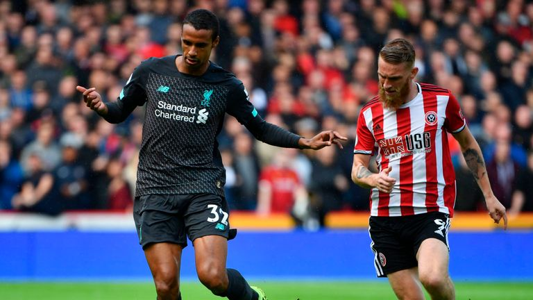 Joel Matip partners Virgil van Dijk in the preferred combined centre-back pairing