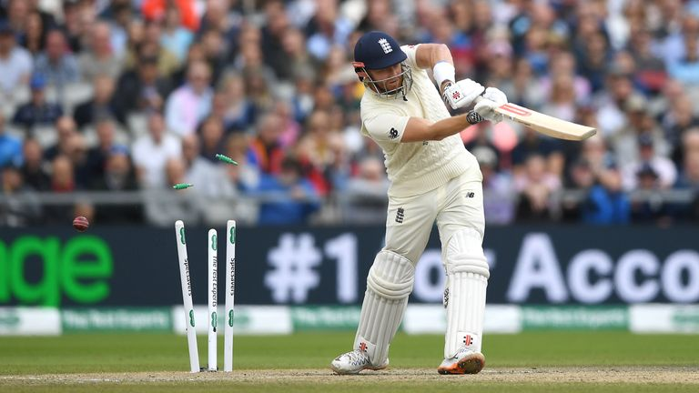 Mitchell Starc bowled Jonny Bairstow with an in-swinging delivery on day four