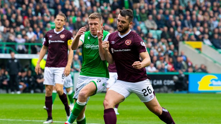Hearts beat Edinburgh rivals Hibernian 2-1 earlier this month