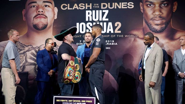 Ruiz Jr vs Joshua II: Anthony Joshua says 'stopping isn't in