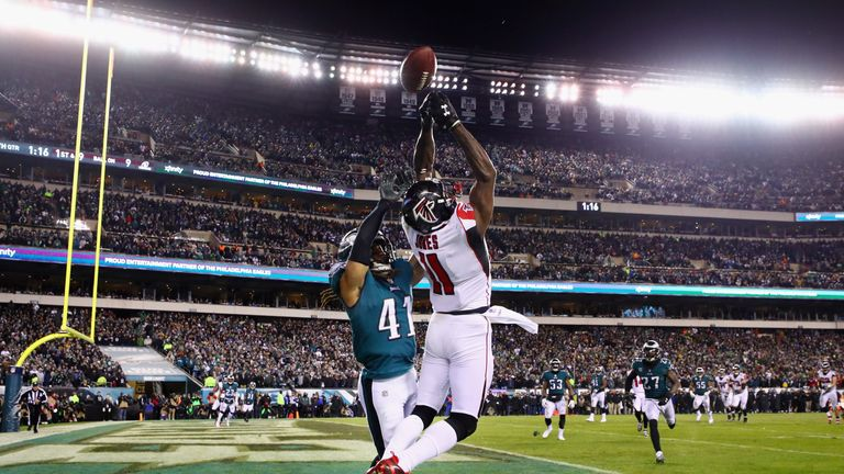 Julio Jones and the Atlanta Falcons have been fingertips away from beating the Eagles in the past two meetings