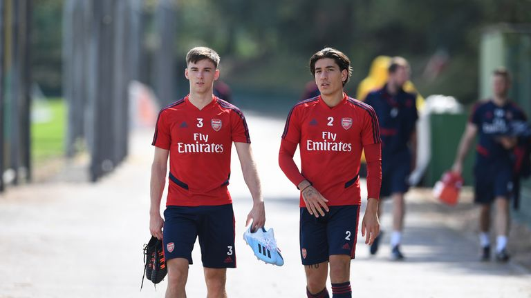 Kieran Tierney and Hector Bellerin are both recovering from injury