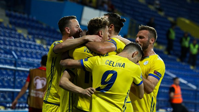 Kosovo are currently England's closest rivals in Group A