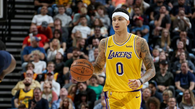 Kyle Kuzma in action for Los Angeles Lakers