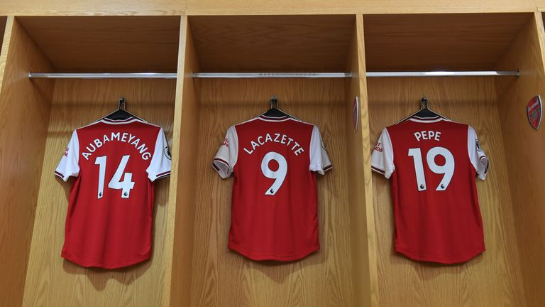 Aubameyang, Lacazette and Pepe started for the first time together against Tottenham