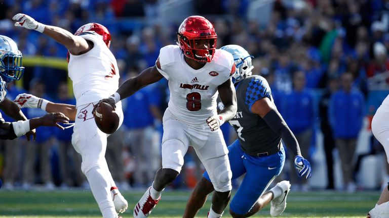 Jackson was a dual-threat star for Louisville in college