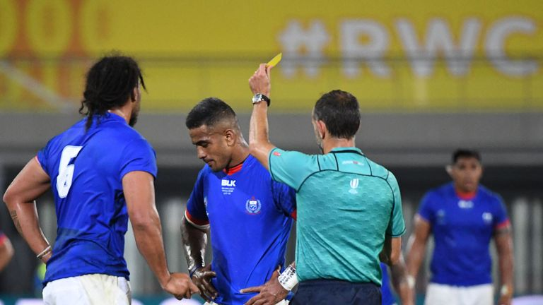 Rey Lee-lo was fortunate to avoid a red card against Russia
