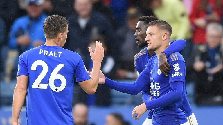 Jamie Vardy has scored 10 Premier League goals at the King Power Stadium in 2019