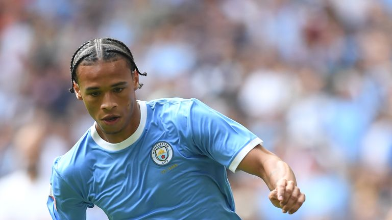 Leroy Sane, who has not played since the Community Shield after sustaining a anterior cruciate ligament injury, is a target for Bayern Munich