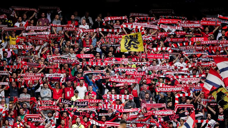 Lille supporters