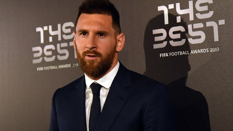 Lionel Messi during The Best FIFA Football Awards 2019 held in Milan