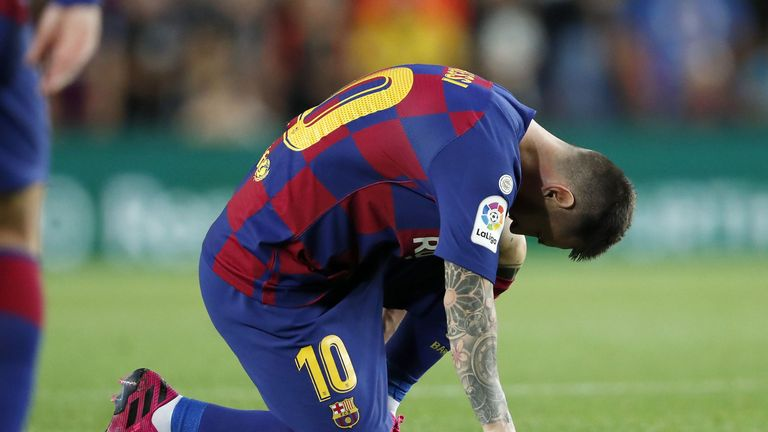 Lionel Messi suffered an abductor muscle injury